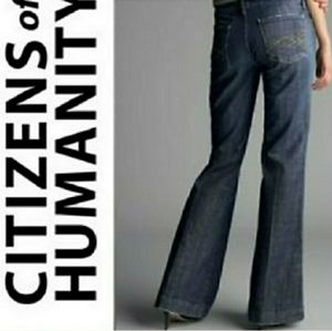 Anthro CofH kate #006 low waist full/flare jeans
